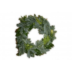 Wreath from Nordmann tree branches