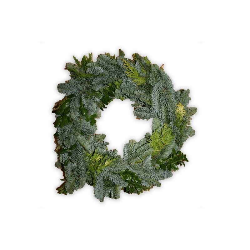 Wreath from Nordmann tree branches  - 1