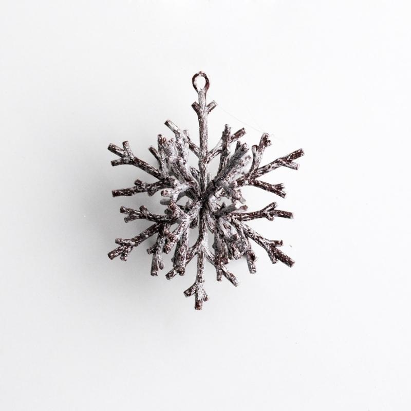 Snowflake wooden snow