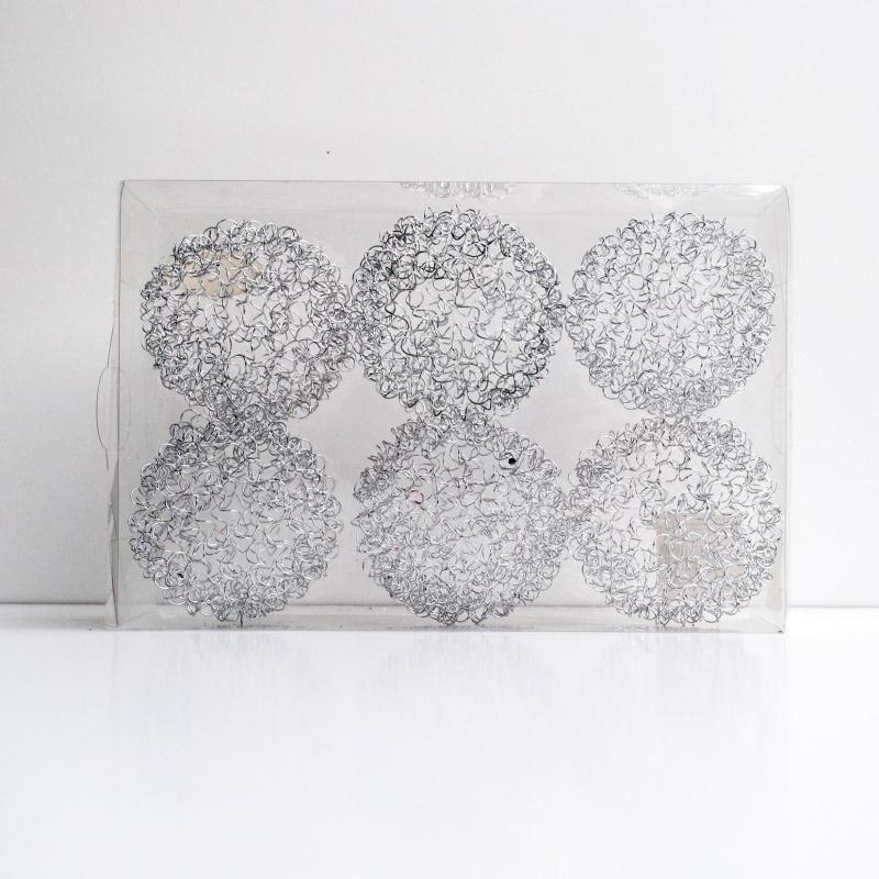 Silver metal balls for Lampe pomme de pin