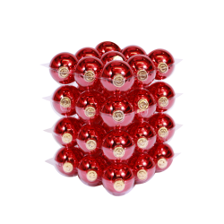 Classic red Christmas baubles