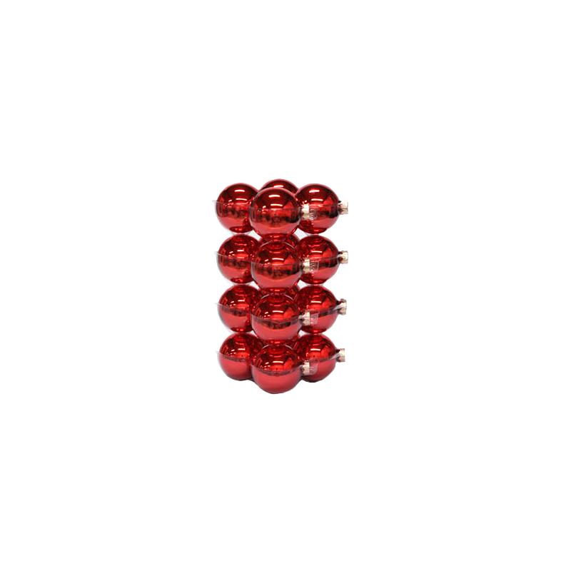 Boules de noël classic rouge