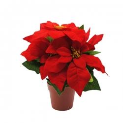 Artificial Christmas Rose - Poinsettia  - 1