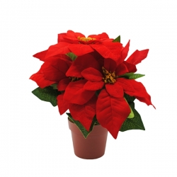 Rose de Noël artificielle - Poinsettia  - 1