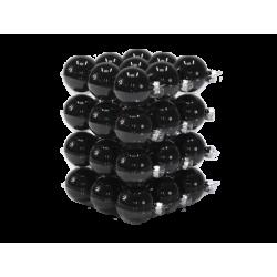 Kerstballen classic zwart
