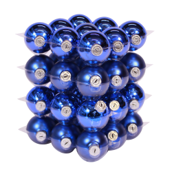Blue classic Christmas baubles