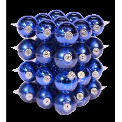 Boules de Noël classiques bleues