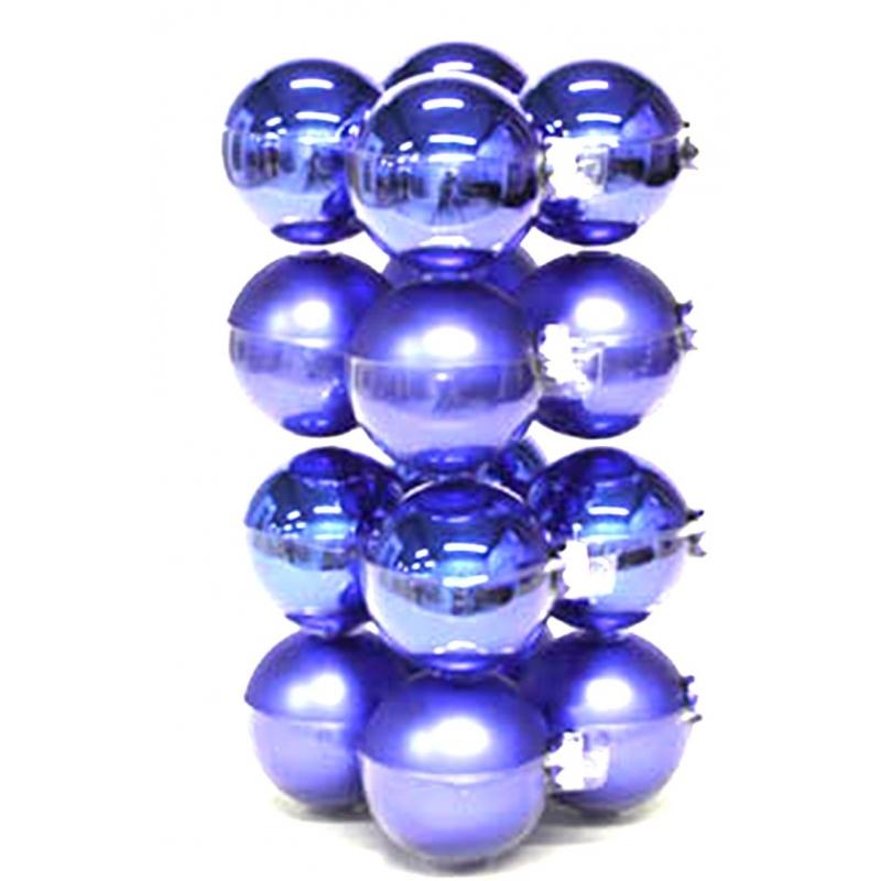 Boules de noël classic-bleu