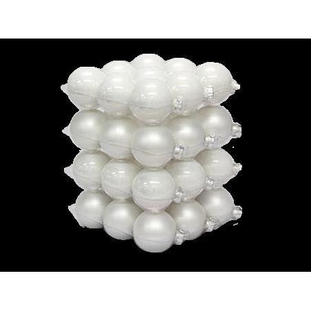 """classic"" Christmas balls - white"