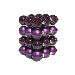 Classic plum Christmas baubles