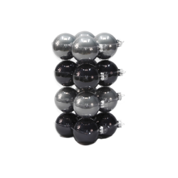 Classic Christmas baubles gray / black