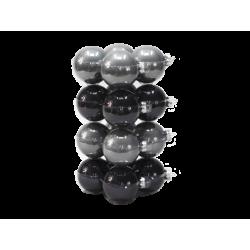 Boules de noël classic-grey/black