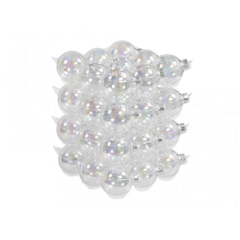"""classic"" Christmas balls - transparent"