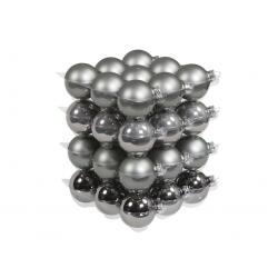 Boules de noël classic-foggy/grey