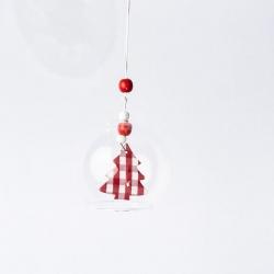 Glazen kerstbal met hanger