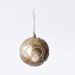 Plastic kerstbal mat goud