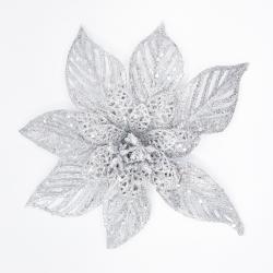 Fleur décorative argentée