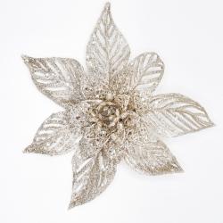 Decoratieve bloem champagne op clip