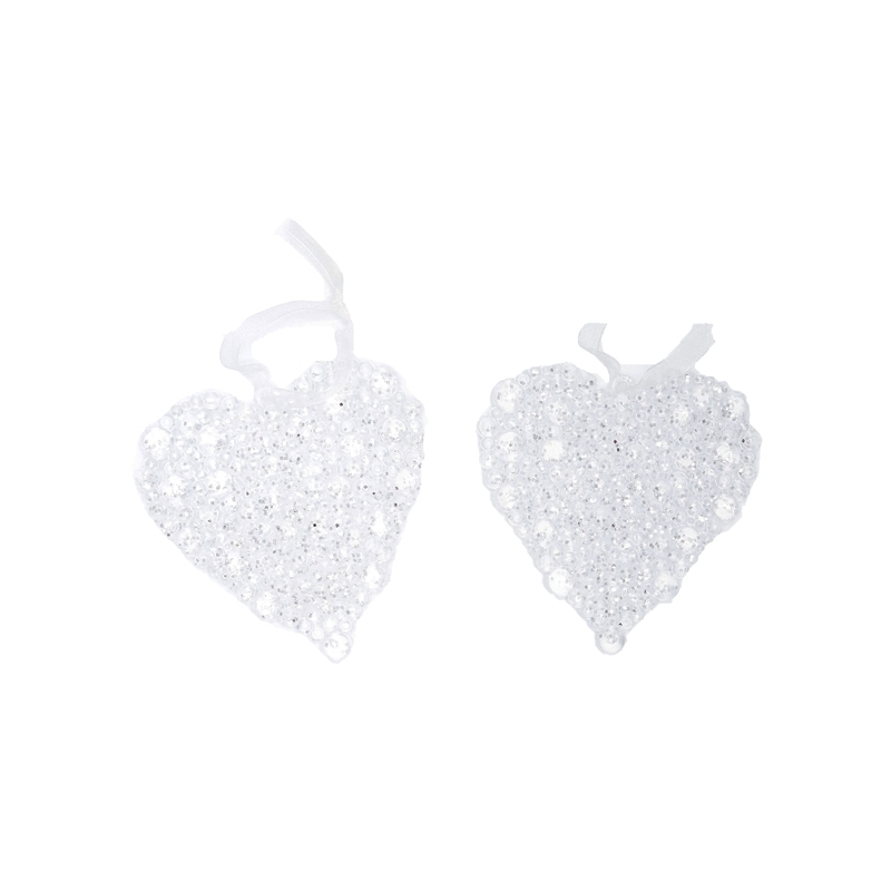 Lot de 2 suspensions étoiles perles transparentes