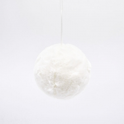 Furry white bauble