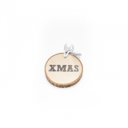 Suspensions disques bois hope, Noël Xmas