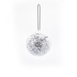 Gray furry bauble