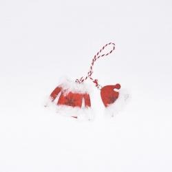 Lot de 6 miniatures  en bois Rouge