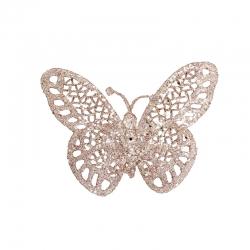 Vlinder met glitter op clip