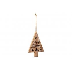 Wooden hanging Merry Christmas tree