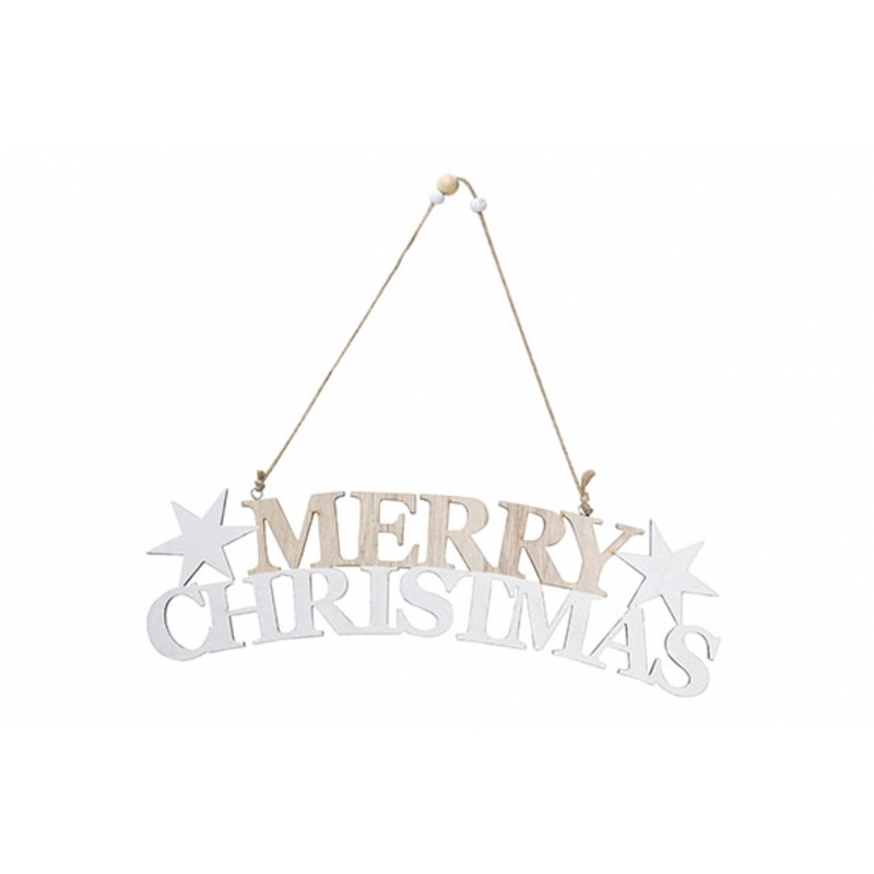 SUSPENSION MERRY CHRISTMAS  BOIS