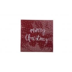 """Papieren servetten """"MERRY CHRISTMAS"""" rood"""