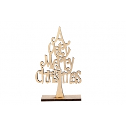 Kerstboom in hout kleur champagne