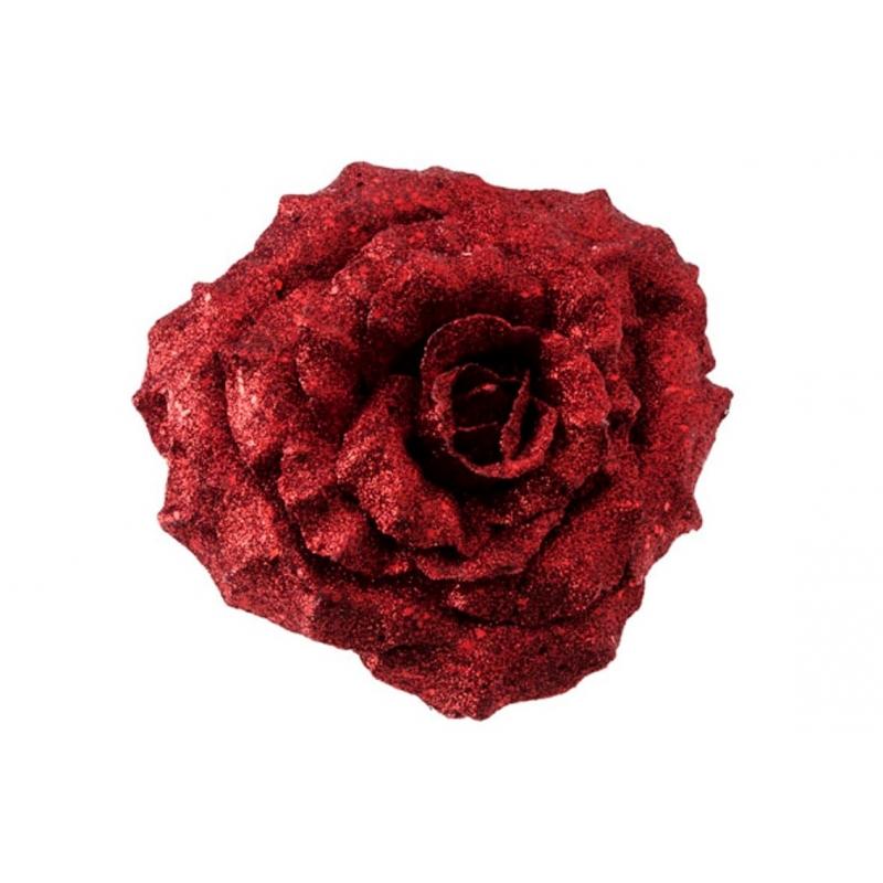 Rose sur clip