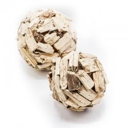 Boule écorce bois naturel