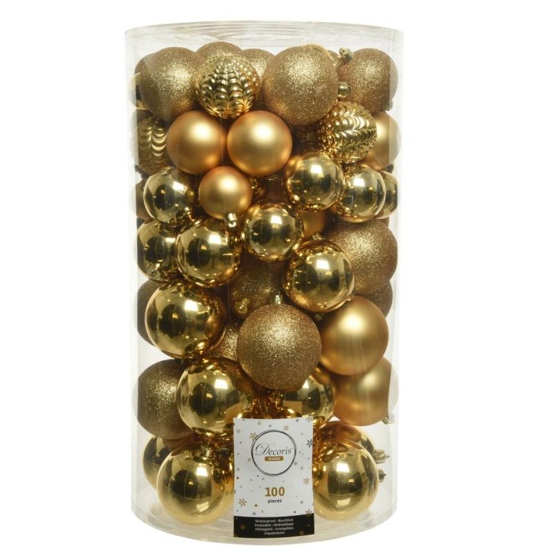 Boule de Noël Classic - or - plastique Maxi