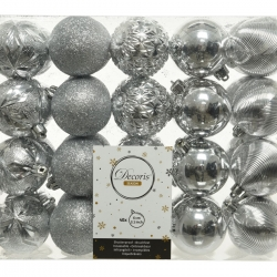 Boule de Noël Classic  Argent  plastique Medium