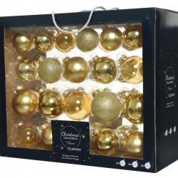 42 kerstballen classic goud