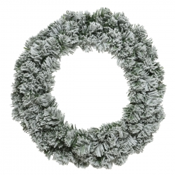 Snowy artificial wreath  - 1