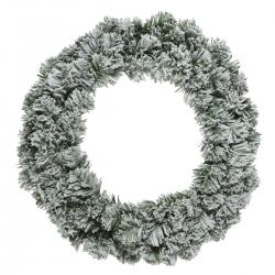 Kunstmatige besneeuwde kerstkrans  - 1