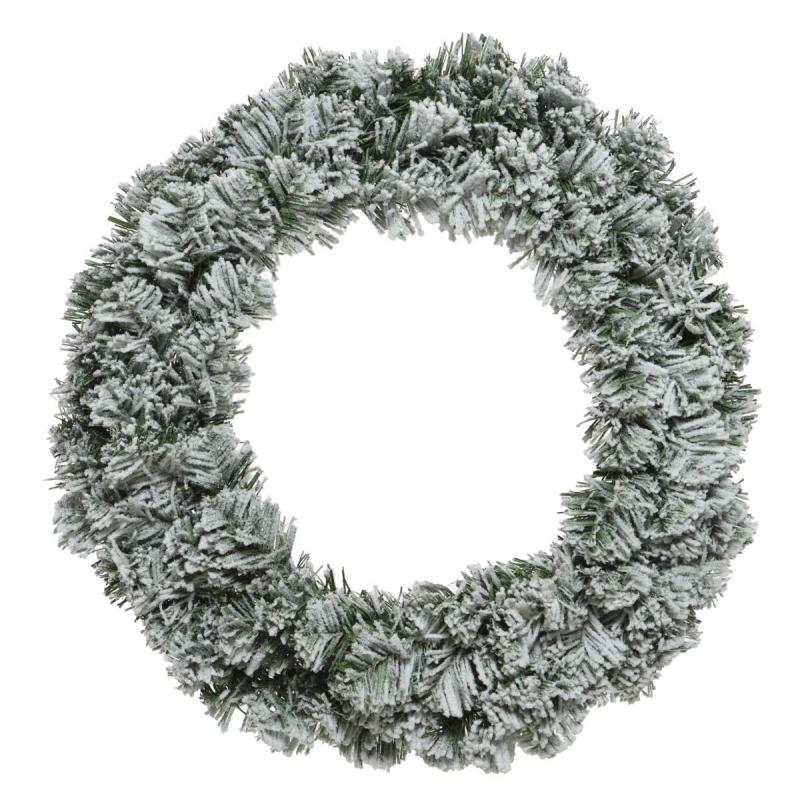 Snowy artificial wreath  - 1