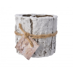 Bark frosted candle 10h