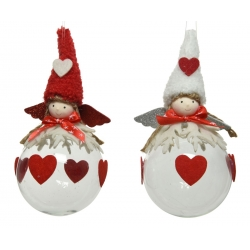 2 Christmas girl baubles