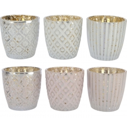 6 pattern candle holders