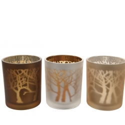 Trio tree candle holders