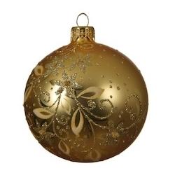 6 gouden kerstballen