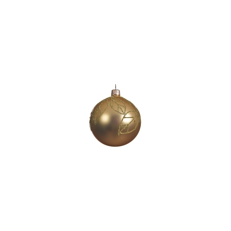 6 Boules de Noel Or