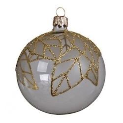 6 glazen kerstballen