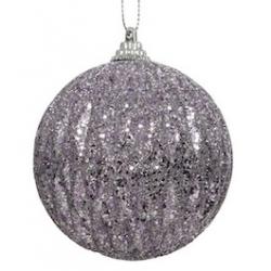 1 kerstballen met glitter