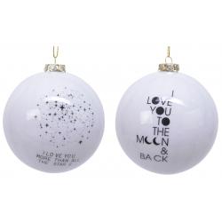 6x2 Boules de Noel blanche avec Dessin