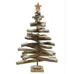 Dennenboom met sneeuw en ster van 62cm